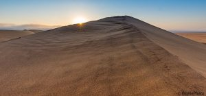 Sun setting over dunes just outside of Swakopmund. Our Eco Dune Tour offers amazing photographic opportunities